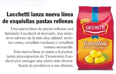 Lucchetti lanza nueva linea de pastas rellenas