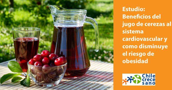 Estudio muestra los beneficios del consumo de jugo de cerezas dulces en el sistema cardiovascular y como ayuda a reducir el riesgo de obesidad (en inglés)